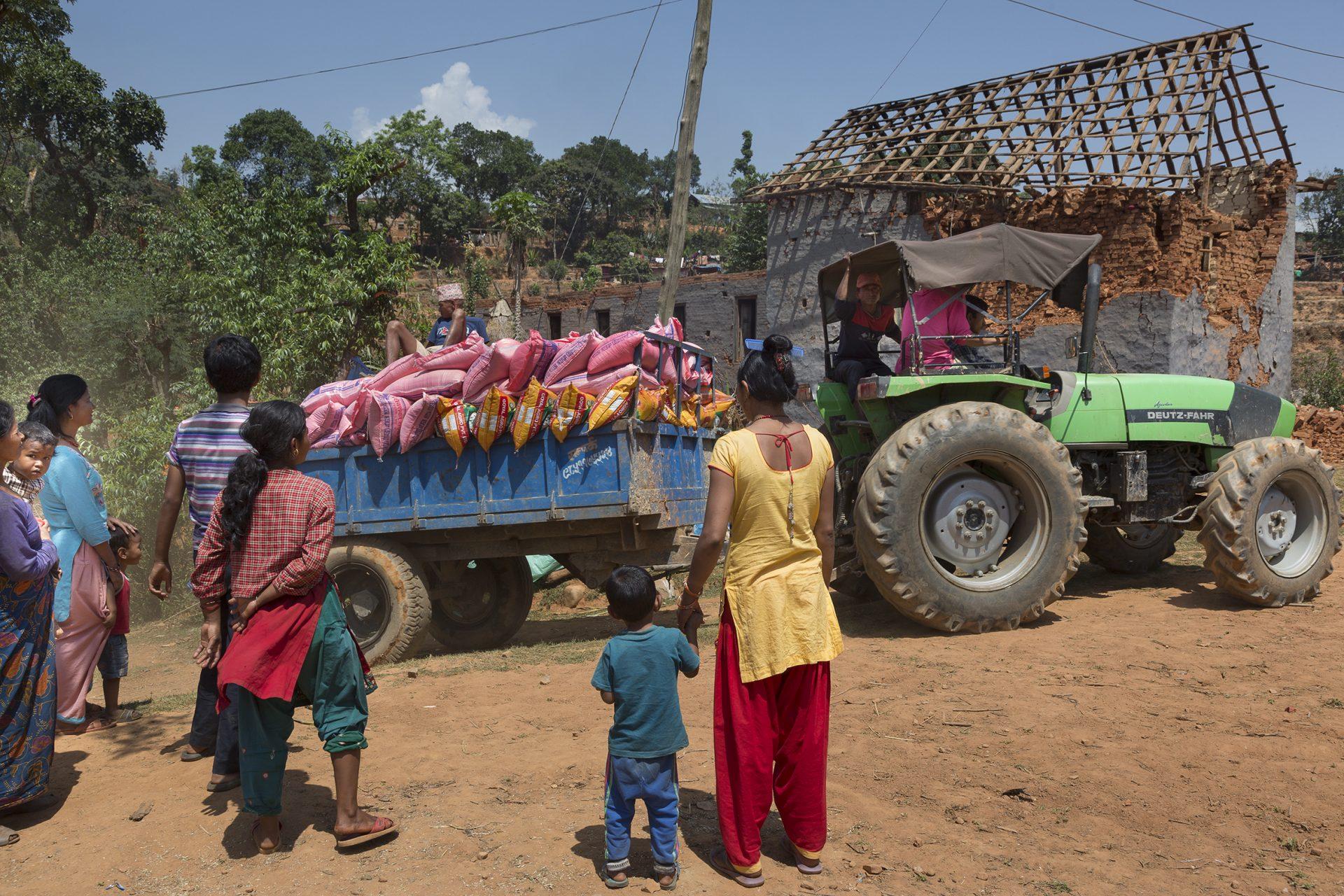 Nothilfe für Erdbebenopfer in Nepal